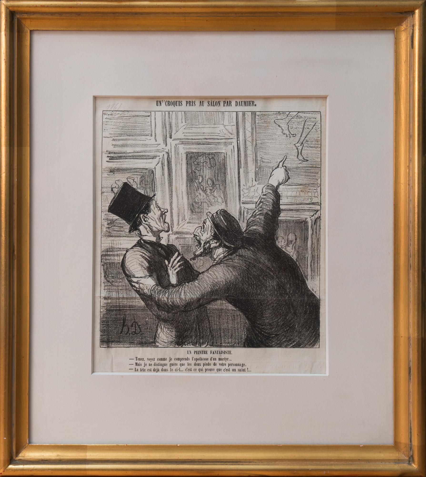 """Honoré Daumier, """"Un Peintre Fantaisiste"""", 1865"""